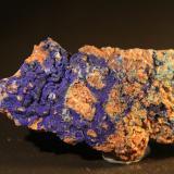 Azurite<br />Reformada Mine, El Pinar de Bédar, Bédar, Comarca Levante Almeriense, Almería, Andalusia, Spain<br />112mm x 51mm x 27mm<br /> (Author: franjungle)