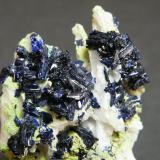 Azurite and Duftite<br />Tsumeb Mine, Tsumeb, Otjikoto Region, Namibia<br />32mm x 62mm x 21mm<br /> (Author: Heimo Hellwig)