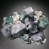 Galena, Fluorite<br />Heights Quarry, Westgate, Weardale, North Pennines Orefield, County Durham, United Kingdom England<br />9x7x4 cm overall size<br /> (Author: Jesse Fisher)
