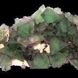 Fluorite<br />De'an Mine, Wushan, De'an, Jiujiang Prefecture, Jiangxi Province, China<br />Specimen size 19 cm, largest fluorite 3 cm<br /> (Author: Tobi)