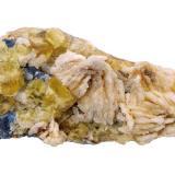 Fluorite, Galena, Barite<br />Sidi Ayad (Sidi Ayed), Boulemane Province, Fès-Meknès Region, Morocco<br />Specimen size 15 cm, largest fluorite 16 mm, largest galena 8 mm, largest barite 30 mm<br /> (Author: Tobi)