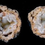 Quartz with Quartz (variety chalcedony)<br />Indiana, USA<br />15 cm x 15 cm<br /> (Author: Bob Harman)