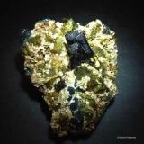 Hübnerita y Calcopirita.<br />Mina Boldut, Zona minera Cavnic, Cavnic, Maramures, Rumanía<br />60x50 mm.<br /> (Autor: Jesus Franquesa Baucells)