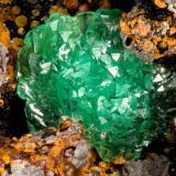 Adamite<br />Mohawk Mine, Mohawk Hill, Clark Mountains, Clark Mountain District (Clark District), San Bernardino County, California, USA<br />FOV = 2.4 mm<br /> (Author: Doug)
