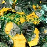 Brochantite<br />Hideout Mine, Deer Flat, White Canyon, White Canyon District, San Juan County, Utah, USA<br />FOV = 3.2 mm<br /> (Author: Doug)