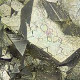 Arsenopyrite<br />Halamanning Mine, St. Hilary, Mount's Bay District, Cornwall, England, United Kingdom<br />FOV = 4.0 mm<br /> (Author: Doug)