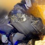 Azurite<br />Friedrichssegen Mine, Frücht, Bad Ems District, Lahn Valley, Rhineland-Palatinate/Rheinland-Pfalz, Germany<br />FOV = 1.3 mm<br /> (Author: Doug)