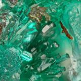Antlerite<br />Blanchard Mine (Portales-Blanchard Mine), Bingham, Hansonburg District, Socorro County, New Mexico, USA<br />FOV = 1.3 mm<br /> (Author: Doug)