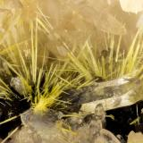 Boltwoodite<br />New Method Mine, Amboy area, Bristol Mountains, San Bernardino County, California, USA<br />FOV = 2.9 mm<br /> (Author: Doug)