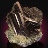 Azurita<br />Mina Tsumeb, primera zona de oxidación, Tsumeb, Región Otjikoto, Namibia<br />9x8cm, cristales de hasta 4.5cm<br /> (Autor: Raul Vancouver)