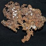 Copper<br />Ray Mines, Scott Mountain area, Mineral Creek District, Dripping Spring Mountains, Pinal County, Arizona, USA<br />9.5x7.5x1 cm<br /> (Author: Joseph DOliveira)