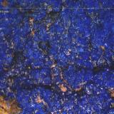 Azurita.<br />Mina Zapateros, Arroyo de Zapateros, Venta de Matagatos, Majar Nevado y Lagar, Málaga, Comarca Málaga-Costa del Sol, Andalucía, España<br />5´413 x 4´119 mm.<br /> (Autor: Jesus Franquesa Baucells)