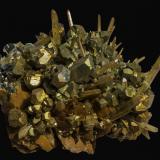 Quartz with Pyrite, Siderite and Bournonite<br />Mésage Mine, Saint-Pierre-de-Mésage, Vizille, Grenoble, Isère, Auvergne-Rhône-Alpes, France<br />70 x 60 x 40 mm<br /> (Author: Rob Schnerr)