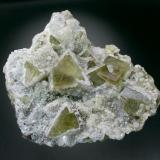 Fluorite and Quartz<br />Rogerley West Quarry, Rivet Catcher vein, Frosterley, Weardale, North Pennines Orefield, County Durham, United Kingdom England<br />12x11x5 cm<br /> (Author: Jesse Fisher)
