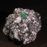 Beryl (variety emerald), Parisite and Calcite<br />Muzo mining district, Western Emerald Belt, Boyacá Department, Colombia<br />45mm x 42mm x 36mm<br /> (Author: Firmo Espinar)