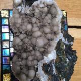 Heulandite, Stilbite, Mesolite/Natrolite<br />Hvalfjörður, Capital Region, Iceland<br /><br /> (Author: Bergur_E_Sigurdarson)