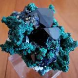 Azurite<br />Oumjrane mining area, Alnif, Tinghir Province, Drâa-Tafilalet Region, Morocco<br />3 cm x 5 cm<br /> (Author: Enrique Llorens)