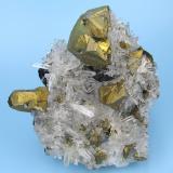 Chalcopyrite, quartz Alimon Mine, Huaron, San José de Huayllay, Cerro de Pasco, Daniel Alcides Carrión, Pasco, Peru 70 mm x 63 x mm 33 mm (Author: Carles Millan)