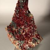 Grossular (variety hessonite), Diopside, Clinochlore<br />Susa Valley, Torino Province, Piedmont (Piemonte), Italy<br />120 mm x 83 mm<br /> (Author: Sante Celiberti)