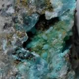 Aragonito<br />Mina Les Ferreres, Rocabruna, Camprodon, Comarca Ripollès, Girona / Gerona, Catalunya, España<br />1,5 x 1 cm (encuadre)<br /> (Autor: Frederic Varela)