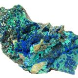 Azurite, Malachite, ChrysocollaMorenci Mine, Morenci, Copper Mountain District, Shannon Mountains, Greenlee County, Arizona, USASpecimen size 19 cm (Author: Tobi)