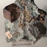 Magnetite, Pyrite<br />Brosso Mine, Cálea, Léssolo, Canavese District, Torino Province, Piedmont (Piemonte), Italy<br />81 x 74 mm<br /> (Author: Sante Celiberti)