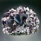 Fluorite<br />Rogerley Mine, Sutcliffe vein, Frosterley, Weardale, North Pennines Orefield, County Durham, England, United Kingdom<br />12x9x7 cm overall size<br /> (Author: Jesse Fisher)