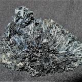 Stibnite<br />Kusa Mine, Bau, Kuching, Kuching District, Kuching Division, Sarawak State, Borneo Island, Malaysia<br />6.4x6.2x3.8 cm<br /> (Author: Joseph DOliveira)