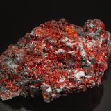 Realgar<br />Baia Sprie Mine, Baia Sprie, Maramures, Romania<br />6.5 x 11.0 cm<br /> (Author: Michael Shaw)