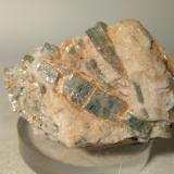 Chloritoid, Kyanite<br />Colle di Cervetto, Sampeyre, Cuneo Province, Piedmont (Piemonte), Italy<br />66 x 46 mm<br /> (Author: Sante Celiberti)