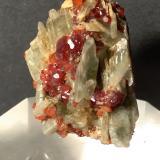 Diopside, Grossular (variety hessonite)<br />Testa Ciarva, Balme, Val d'Ala, Valli di Lanzo, Torino Province, Piedmont (Piemonte), Italy<br />30 x 22 mm<br /> (Author: Sante Celiberti)