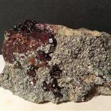 Grossular (variety hessonite), Clinochlore<br />Mussa Alp, Balme, Val d'Ala, Valli di Lanzo, Torino Province, Piedmont (Piemonte), Italy<br />101 x 65 mm<br /> (Author: Sante Celiberti)