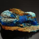 Chalcanthite<br />San Juan County, Utah, USA<br />5.2 cm x 7.2 cm<br /> (Author: Michael Shaw)