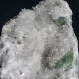 Fluorite and Quartz<br />Baimashan tunnel (construction site), Qianbaxia, Wuyishan, Nanping Prefecture, Fujian Province, China<br />13 x 7 cm<br /> (Author: Volkmar Stingl)