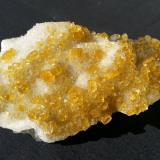 Baryte on Quartz and Fluorite<br />Xiefang Mine, Ruijin, Ganzhou Prefecture, Jiangxi Province, China<br />10 x 6 cm<br /> (Author: Volkmar Stingl)