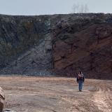Offset at the fault line of the Holyoke range. (Author: vic rzonca)