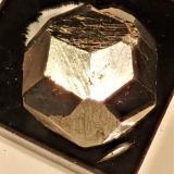 Pyrite<br />Traversella, Chiusella Valley, Canavese District, Metropolitan City of Turin Province, Piedmont (Piemonte), Italy<br />1.2x1.4x1.5 cm<br /> (Author: Bob Morgan)