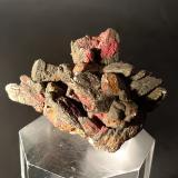 Cinnabar, Marcasite<br />Monte Labbro Mine, Amiata Mountain, Santa Fiora, Grosseto Province, Tuscany, Italy<br />48 x 38 mm<br /> (Author: Sante Celiberti)