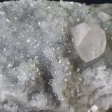 Calcite on Quartz<br />Cangchuanlong #1 tunnel (construction site), Jianyang, Nanping Prefecture, Fujian Province, China<br /><br /> (Author: Volkmar Stingl)