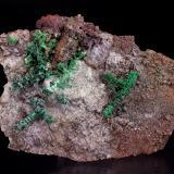 Malachite pseudomorph Copper<br />Andrássy I Mine, Rudabányai Mountains, Rudabánya, Borsod-Abaúj-Zemplén, Hungary<br />75 x 52 mm<br /> (Author: Gerhard Brandstetter)