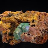 Malachite pseudomorph Cuprite crystals<br />Andrássy I Mine, Rudabányai Mountains, Rudabánya, Borsod-Abaúj-Zemplén, Hungary<br />34 x 18 mm<br /> (Author: Gerhard Brandstetter)