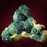 Malachite pseudomorph Cuprite crystals<br />Andrássy I Mine, Rudabányai Mountains, Rudabánya, Borsod-Abaúj-Zemplén, Hungary<br />33 x 30 mm<br /> (Author: Gerhard Brandstetter)
