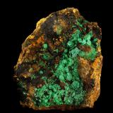 Malachite pseudomorph Cuprite crystals<br />Rudabánya, Borsod-Abaúj-Zemplén, Hungary<br />19 x 15 cm<br /> (Author: Gerhard Brandstetter)
