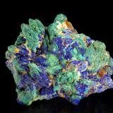 Azurite and Malachite pseudomorph Azurite<br />Andrássy I Mine, Rudabányai Mountains, Rudabánya, Borsod-Abaúj-Zemplén, Hungary<br />44 x 35 mm<br /> (Author: Gerhard Brandstetter)