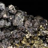 Silver, Argentite, Sphalerite<br />Banská Štiavnica (Schemnitz), Banská Štiavnica District, Banská Bystrica Region, Slovak Republic<br />FOV 16 x 12 mm<br /> (Author: Gerhard Brandstetter)