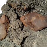 Calcite (variety manganoan calcite), Dolomite, Pyrite<br />Gavorrano Mine area, Gavorrano, Grosseto Province, Tuscany, Italy<br />26 x 25 cm<br /> (Author: Sante Celiberti)