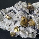 Chalcopyrite, Quartz, Pyrite, Dolomite, Galena<br />Tonglüshan Mine, Edong, Daye, Huangshi Prefecture, Hubei Province, China<br />13 x 8 cm<br /> (Author: Volkmar Stingl)