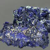Azurita<br />Zona minera Daye, Edong, Daye, Prefectura Huangshi, Provincia Hubei, China<br />95x65 mm.<br /> (Autor: Ramon A  Lopez Garcia)