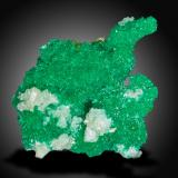 Dioptase with Cerussite<br />Mammoth-St. Anthony Mine, St. Anthony deposit, Tiger, Mammoth District, Pinal County, Arizona, USA<br />3 x 3.5 x 2 cm<br /> (Author: SWK)