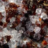 Fluorite on Sphalerite<br />Minerva I Mine, Ozark-Mahoning group, Cave-in-Rock Sub-District, Hardin County, Illinois, USA<br />7.1 cm x 8.7 cm<br /> (Author: Michael Shaw)